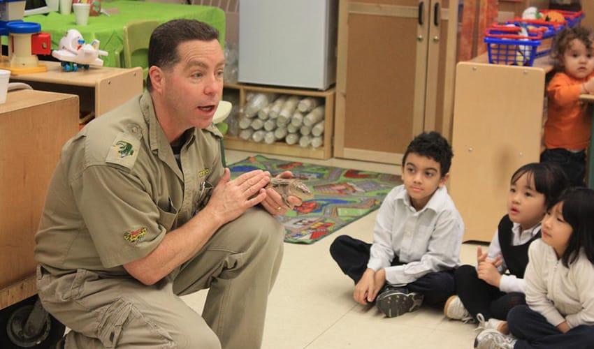 Reptilia Zoo Elementary Education program at a school visit
